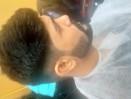 mans hair cutting